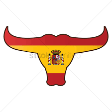 Bull Flag Bull With Spain Flag Vector Image 1565308 Stockunlimited