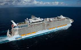 largest ship in the world the world s largest cruise ship has 20 restaurants a 10 story slide