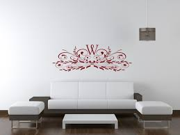 vinyl monogram wall decor art jen joes design image of monogram wall sticker
