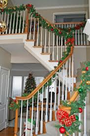 pre lit stair garland wire lighted outdoor