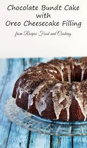 chocolate bundt cake with oreo cheesecake filling bundtbakers