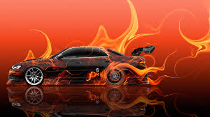 orange cars 2016 toyota altezza jdm tuning side super fire drift car 2016