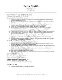 physical therapist resume template gfyork com