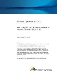 detailed feature guide for microsoft dynamics ax 2012 r2