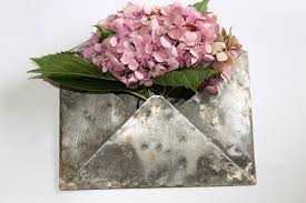 galvanized metal wall plant container metal envelope wall