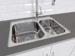 double bowl kitchen sink ancona capri drop in 27 1 x 20 4 double bowl kitchen sink with