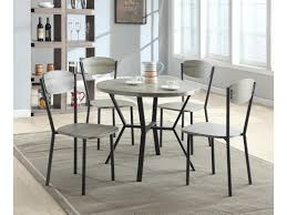 five piece dining room sets crown mark blake 5 piece dining set with round table in gray wood