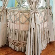 bella rose round crib with rose applique by villa bella