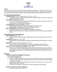 Application Resume Template Career Services At The University Of Pennsylvania