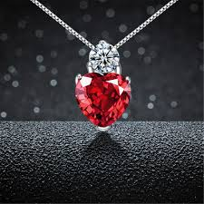red necklace women images Goodtime real 925 sterling silver jewelry cute necklaces jpg