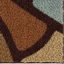 Impressions Rugs Orian Rugs Soft Shag Geometric Oval Day Multi Colored Area Rug