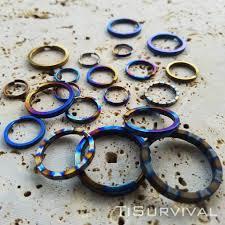 titanium key rings images Titanium split rings ti survival jpg