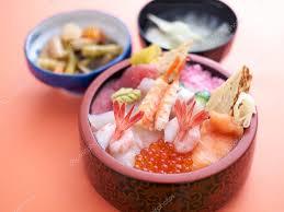 cuisine japonais bol à riz sashimi poisson cru de fruits de mer cuisine japonaise