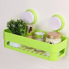 Bathroom Suction Shelves Plastic Bathroom Shelf Kitchen Storage Box Organizer Basket With