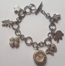 silver plated charm bracelet images Folli follie jewelry silver plated charm bracelet watch poshmark jpg