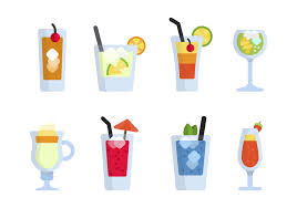 tropical cocktail silhouette happy bubble tea vector set download free vector art stock