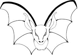 coloring page of a bat pictures of bats coloring page coloring page