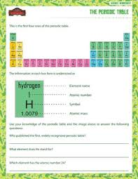 periodic table 6th grade the periodic table printable sixth grade science worksheet