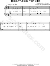instrumental this little light of mine pamela schultz this little light of mine sheet music easy piano