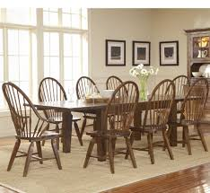 attic heirlooms rustic oak rectangular leg table dining set by