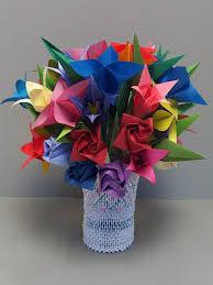 Origami 3d Flower Vase 7 Best Images Of Origami Flower Vase Origami Rose Vase 3d