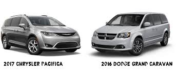 chrysler minivan comparison chrysler pacifica dodge grand caravan