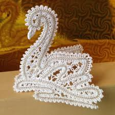 advanced embroidery designs freestanding battenberg lace swan