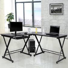 Schreibtisch Mit Schwarzer Glasplatte Büro Schreibtisch In Schwarz Glas Jetzt Bestellen Unter Https