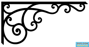corner pattern png corner vector dxf cnc file cc free dxf files free cad software