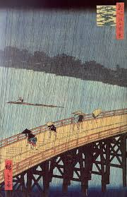 Japanese Shower by Drawpaintprint Ando Hiroshige Evening Shower At Atake And The