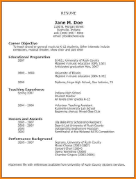 resume template for a highschool student 10 high resume