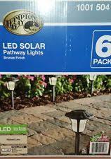 Hampton Bay Outdoor Solar Lights by Hampton Bay Bronze Solar Led Pathway Outdoor Light Fast F1 Ebay