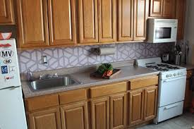painting kitchen backsplash how to paint a geometric tile kitchen backsplash cheap kitchen