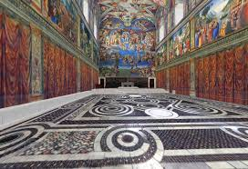3d floor plan of the sistine chapel to check out the ceiling use