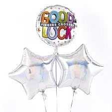 luck balloon delivery luck fingers crossed silver balloon bouquet inflated free