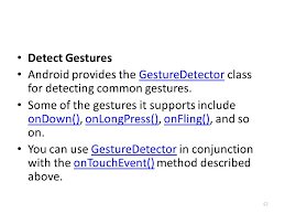 android gestures android 15 gestures kirk ppt