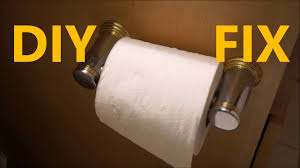 easy diy fix loose toilet paper holder how to repair youtube