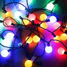 Amazon G40 Globe Decorative String Lights Colored Longer