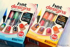 designs nail varnish art pens pack of 6 colours design
