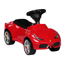 toy ferrari 458 ferrari 458 push ride on car with leather seat red