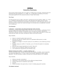 Examples Of Resume Summary by Executive Summary Essay