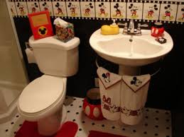 kids mickey mouse bathroom decor