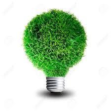 eco friendly light bulbs green grass growing on light bulb concept for eco friendly stock