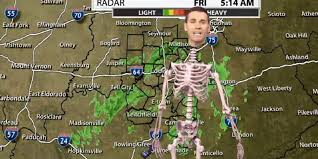 halloween skeleton videos this meteorologist took his halloween costume to the next level