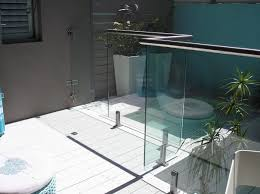 Frameless Glass Handrail Glass Railing With Panels Outdoor For Stairs Clear Glass