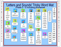 letters and sounds tricky word mat by reasid teaching resources