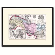 home decor gift items persia iraq iran afghanistan vintage antique map wall art home