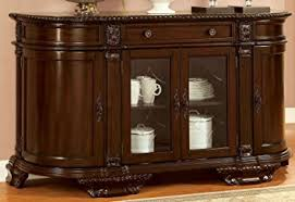 Dining Room Buffet Servers Amazon Com Furniture Of America Cm3319sv Bellagio Brown Cherry