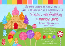 birthday party invitations birthday party invitation ideas best 25 candy land invitations ideas