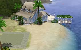 sims 3 beach bungalow aluna island speed build youtube
